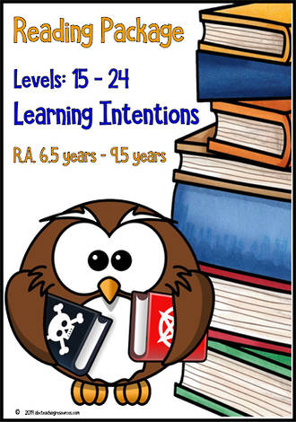 Fluent Reading | Making Connections | Learning Intentions | R.A. 6.5 - 9.5 Years | PACKAGE