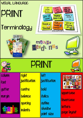 Visual Language | Print Terminology