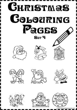 Christmas   Colouring Pages   Card Making   Writing Prompt   Set 4