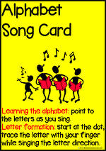 Alphabet | Song Card