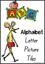 Alphabet Letter-Picture Tile Cards | QBeginners Print