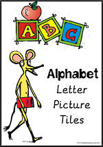 Alphabet Letter-Picture Tile Cards | Sassoon Primary Style