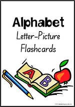 Alphabet | Letter-Picture | Flashcards | SA Print