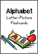 Alphabet | Letter-Picture | Flashcards | Zaner Bloser Style