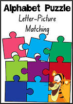 Alphabet Letter-Picture Matching Puzzle | NSW-NZ Print