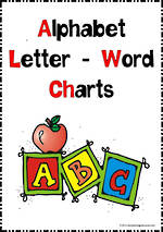 Alphabet Letter-  Picture- Word Charts   NSW-NZ  Print