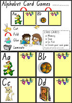 Alphabet Card Games |  Uppercase - Lowercase Letters | VIC Print