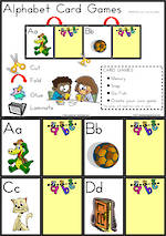Alphabet Card Games |  Uppercase - Lowercase Letters | Zaner Bloser Style