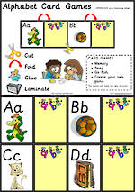 Alphabet Card Games |  Uppercase - Lowercase Letters | Sassoon Primary Style