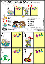 Alphabet Card Games | Uppercase Letters | NSW-NZ  Print