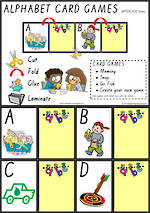 Alphabet Card Games   Uppercase Letters   VIC Print