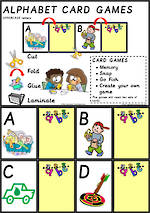 Alphabet Card Games | Uppercase Letters | Sassoon Primary Style