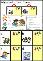 Alphabet Card Games |  Lowercase Letters | Zaner Bloser Style