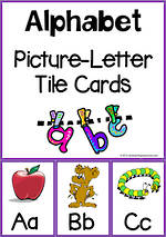 Alphabet  Picture-Letter | Tile Cards
