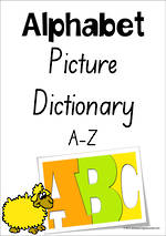 Alphabet | Picture Dictionary | A-Z Charts | SA Print