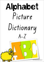 Alphabet | Picture Dictionary | A-Z Charts | VIC Print