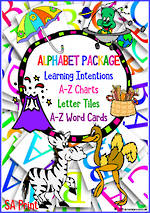 Learning the Alphabet | PACKAGE | SA Print