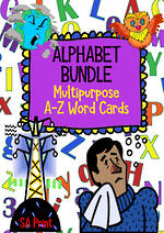 Alphabet | A-Z Word Cards | BUNDLE |  SA Print