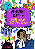 Alphabet | A-Z Word Cards | BUNDLE |  TAS Print