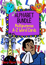 Alphabet | A-Z Word Cards | BUNDLE | Zaner-Bloser Style