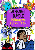 Alphabet | A-Z Word Cards | BUNDLE |  Sassoon Style