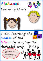 Alphabet | Learning Goals | D'Nealian Manuscript