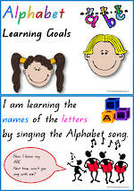 Alphabet | Learning Goal | Charts | QBeginners Print