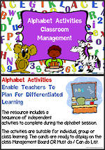 Alphabet | Activity | Classroom Management  2