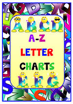 Alphabet | Cartoon Uppercase Letters | Charts