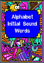 Alphabet | Beginning Sound | Word Cards | TAS Print