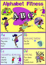 Alphabet Fun | Fitness Activity | Cards  | SA Print