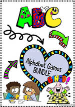 Alphabet Games | BUNDLE | D'Nealian Manuscript
