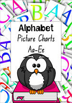 Alphabet | ABCDE | Letter-Sound-Picture | NSW-NZ Print