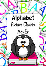 Alphabet | ABCDE | Letter-Sound-Picture | SA Print