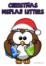 Christmas   Alphabet A-Z   Uppercase   Purple   Display  Letters