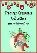 Christmas | Alphabet |  Ornament Cards | Sassoon Primary Style