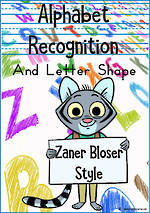 Alphabet |  Recognition and  Letter Shape | Zaner-Bloser Style