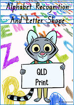 Alphabet |  Recognition and  Letter Shape | QLD Print