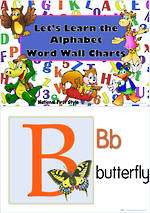 Let's Learn the Alphabet | Word Wall | Charts