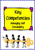 Key Competencies | Managing Self | Vocabulary
