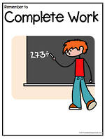 Remember To | Complete Work | Chart