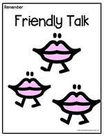 Remember To | Use Friendly Talk | Chart