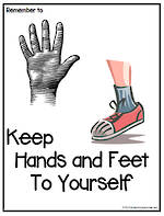 Remember To | Keep Hands And Feet To Yourself | Chart