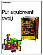 Remember To | Put Equipment Away | Chart