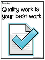 Remember To | Do Quality Work | Chart