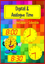 Timetable | Schedule | Digital and Analogue Clock