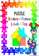 Puzzle Theme | Border - Frames- Labels -Tags