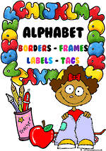 Alphabet Theme | Border - Frames- Labels -Tags