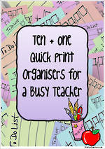 Quick Print | Organisers for Busy Teachers
