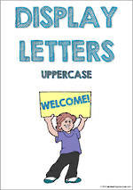 Display Letters | Uppercase | Blue | Set 2